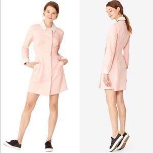 Kate Spade Saturday pink cotton button shirt dress